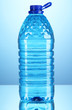 Big Water Bottle On Blue Backg...