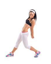 jeune femme faisant athlète exercice