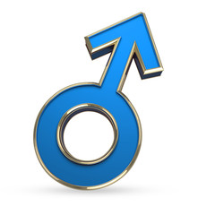 sex symbol isolated on white with clipping path