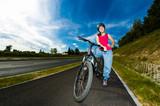 Healthy lifestyle - girl biking