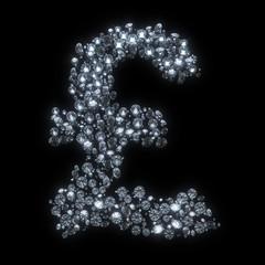 Diamond symbol isolated on black