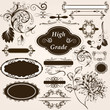 Calligraphic vintage design elements and page decorations