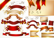 Collection of vector ribbons and banners for design