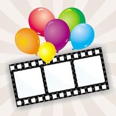 Filmstreifen mit Luftballons