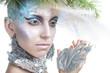 Beautiful Girl's. Creative Winter Makeup