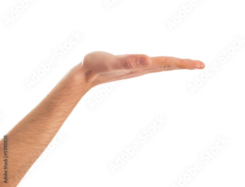 Close-up Of Human Hand Presenting
