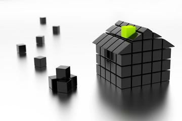 3d house - energy classification concept