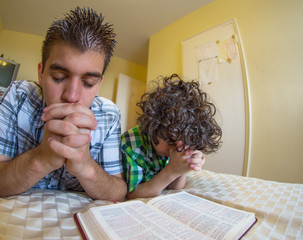 Young Family Praying