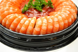 Close-Up of an Appetizer Shrimp Ring