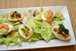Fancy Appetizer Party Platter of Deviled Eggs