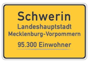 Schwerin 95.300 Einwohner (Stand: 2011)
