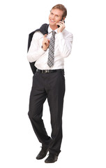 Portrait of a Businessman Talking on the Phone © mimagephotos