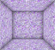 purple mosaic square tiled empty space