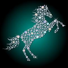 Diamond horse