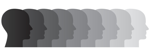 Abstrakte und allgemeine Darstellung einer Menschengruppe