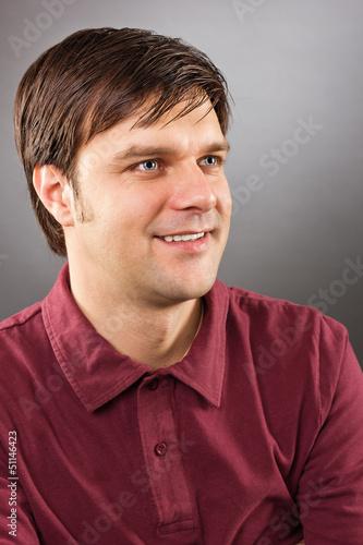 Portrait of smiling handsome man