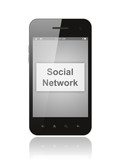 Smart phone with social network button