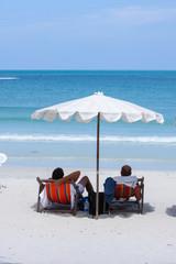 Couple on a tropical beach,Thailand