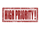 High priority-stamp poster