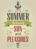 Fototapety Summer Holidays and Travel Typographic Greeting Card