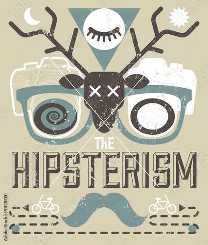 Vector Vintage Background with Hipster Style Elements © hunotika