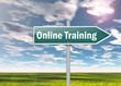 "Signpost ""Online Training"""