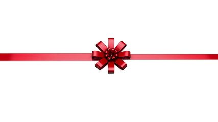 Single ribbon animating into a bow and isolated