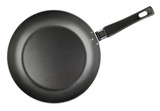 Frying pan isolated on white with clipping path - top view
