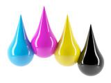 CMYK Large drops of paint