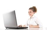 Auszubildende - Mädchen glücklich im Büro
