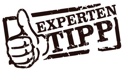 Schwarzer Stempel Experten-Tipp