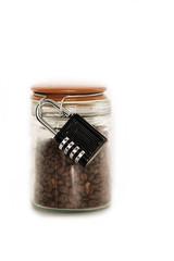 Kaffebohnen mit Schloss
