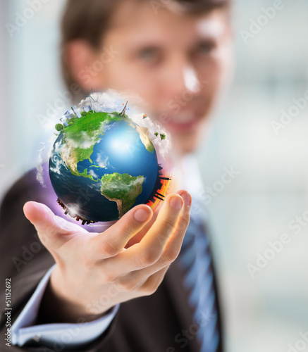 The World is in Your Hand. Conceptual Image