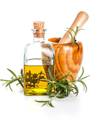 Rosemary oil bottle