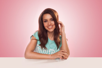 Smiling young Latino woman