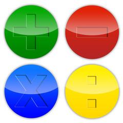Ilustração - Símbolos matemáticos