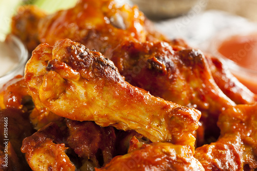 Deurstickers Klaar gerecht Hot and Spicey Buffalo Chicken Wings