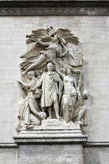 Sculpture on the Arch of Triumph, Paris, France