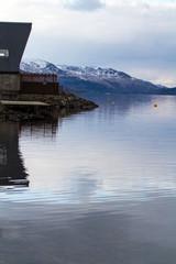Loch side cabin in Scotland