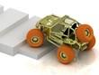 Radio-controlled model buggy