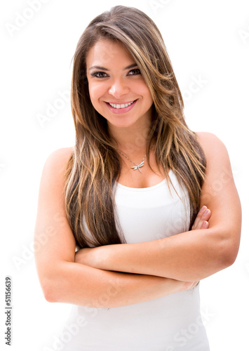 Beautiful woman with arms crossed