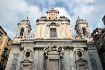 The Church of the Girolamini in Naples
