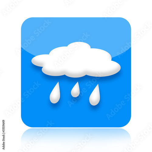 Raining weather icon