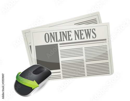 online newspaper and Wireless computer mouse