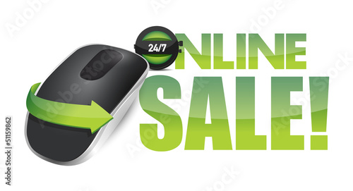 online sale sign and Wireless computer mouse
