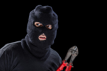 Balaclava and shears