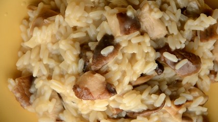 Arroz e mushrooms