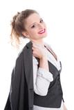 Berufsstart - junges Mädchen als Bankkauffrau
