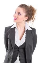 Junge Geschäftsfrau isoliert im business-outfit