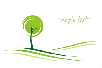 tree, icon, green Eco friendly business logo design